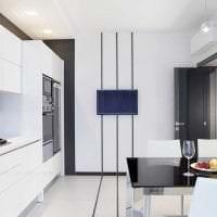 белые стены в дизайне квартиры в стиле скандинавия картинка