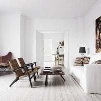 белые стены в декоре прихожей в стиле минимализм картинка