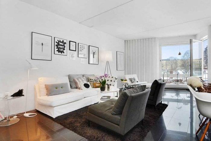 белые стены в стиле спальни в стиле минимализм