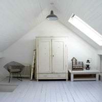 белые стены в интерьере спальни в стиле скандинавия картинка