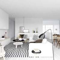 белые стены в стиле гостиной в стиле минимализм картинка