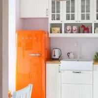 большой холодильник в стиле кухни в черном цвете картинка