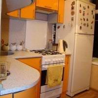 большой холодильник в стиле кухни в светлом цвете картинка