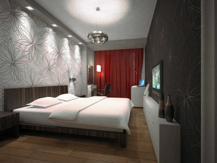 светлая спальня в стиле барокко