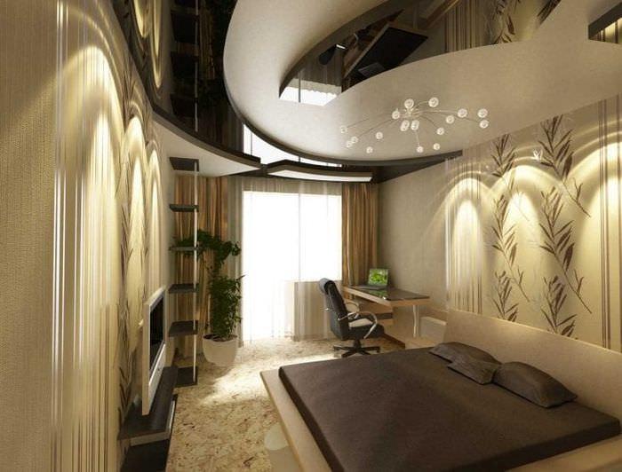 красивая квартира в стиле лофт