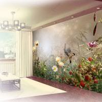 фрески в интерьере прихожей с изображением пейзажа фото