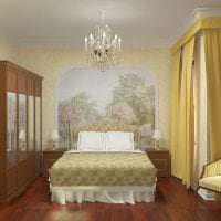 фрески в дизайне квартиры с рисунком пейзажа фото