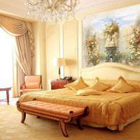 фрески в интерьере спальни с изображением природы картинка