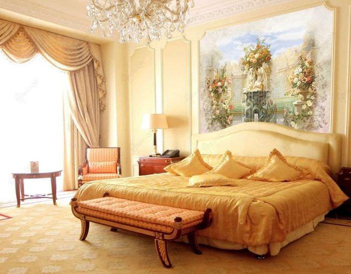 фрески над кроватью в спальне фото правило
