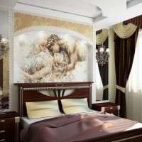 фрески в декоре прихожей с рисунком природы картинка