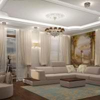 фрески в декоре спальни с рисунком пейзажа картинка