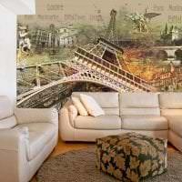 фрески в декоре комнаты с рисунком природы картинка
