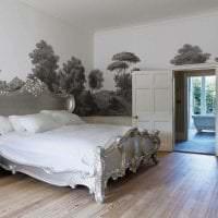 фрески в дизайне гостиной с рисунком природы картинка