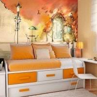 фрески в декоре кухни с изображением природы фото