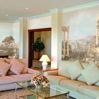 фрески в интерьере прихожей с изображением природы фото