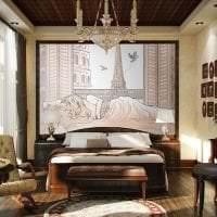 фрески в декоре гостиной с рисунком пейзажа картинка