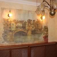 фрески в стиле спальни с изображением природы фото