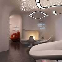 футуризм в стиле комнаты в необычном цвете картинка