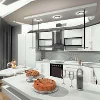 футуризм в дизайне кухни в ярком цвете фото
