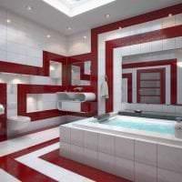 комбинирование красного с другими цветами в дизайне гостиной фото