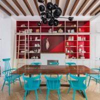 сочетание красного с другими цветами в декоре дома фото