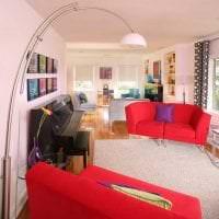 комбинирование красного с другими цветами в интерьере спальни фото
