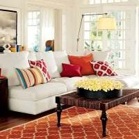 комбинирование красного с другими цветами в стиле квартиры картинка