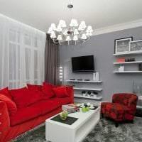 сочетание красного с другими цветами в дизайне коридора фото