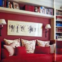 комбинирование красного с другими цветами в интерьере дома картинка