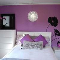 сочетание сиреневого цвета в интерьере дома фото