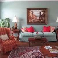 комбинирование сиреневого цвета в стиле коридора картинка