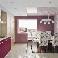 сочетание сиреневого цвета в интерьере кухни картинка