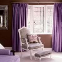комбинирование сиреневого цвета в интерьере дома фото