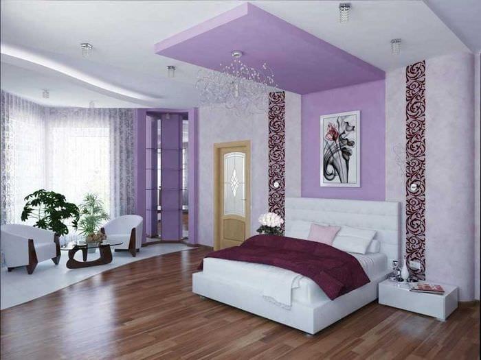 комбинирование сиреневого цвета в дизайне дома