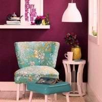 красивый бордовый цвет в стиле квартиры фото
