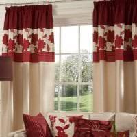 насыщенный бордовый цвет в декоре гостиной картинка