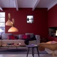 красивый бордовый цвет в интерьере прихожей фото