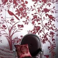 насыщенный бордовый цвет в стиле спальни фото