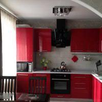 красивый бордовый цвет в дизайне квартиры картинка