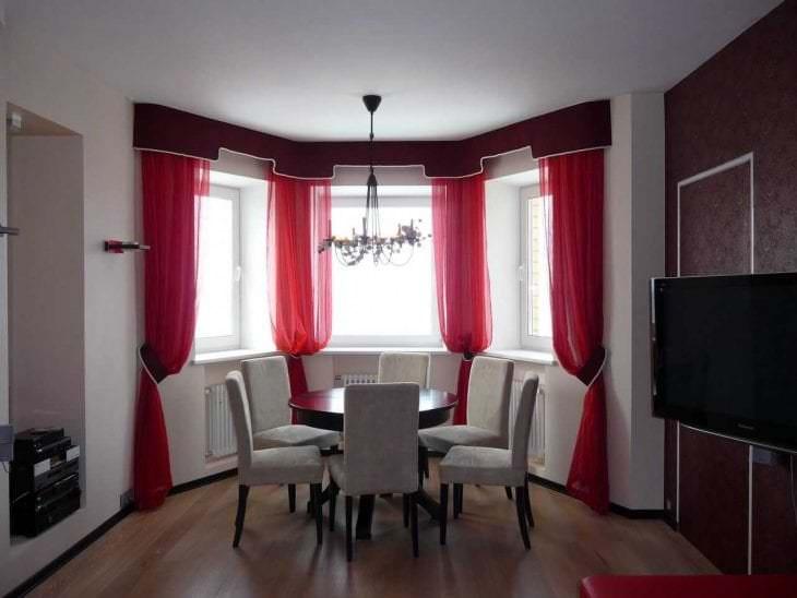 насыщенный бордовый цвет в интерьере кухни