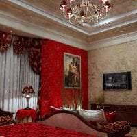 яркий бордовый цвет в дизайне квартиры картинка