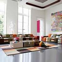 светлый интерьер спальни в стиле авангард картинка