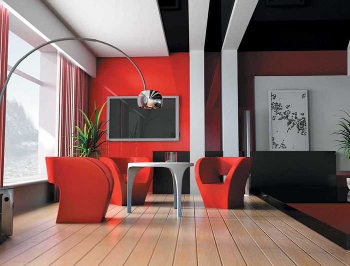 красивый дизайн квартиры в стиле авангард