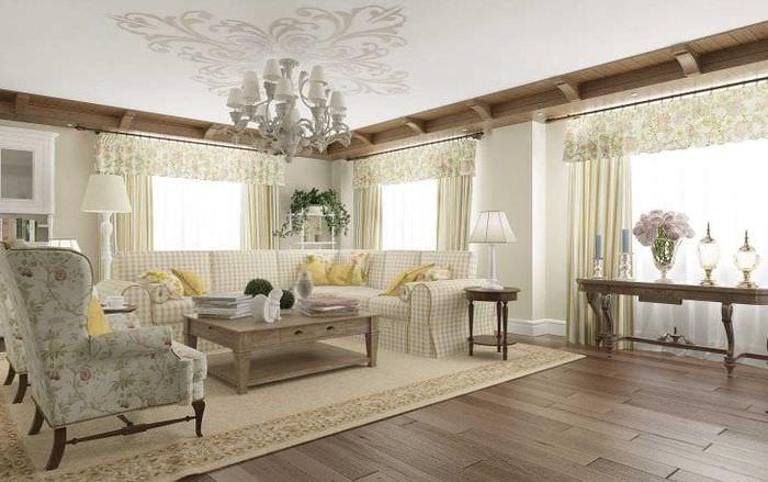 необычный интерьер квартиры в стиле прованс