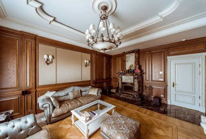 современный декор квартиры в стиле рокко