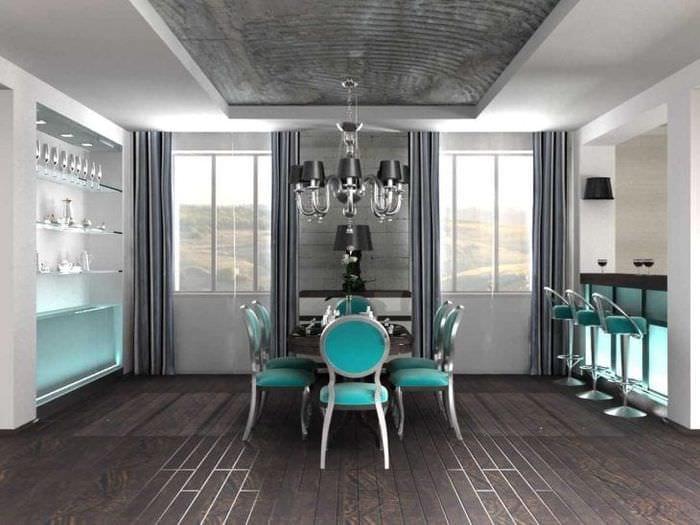 красивый дизайн гостиной в стиле фьюжн