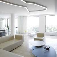 светлый дизайн кухни в стиле авангард фото