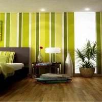 яркий фисташковый цвет в декоре спальни фото