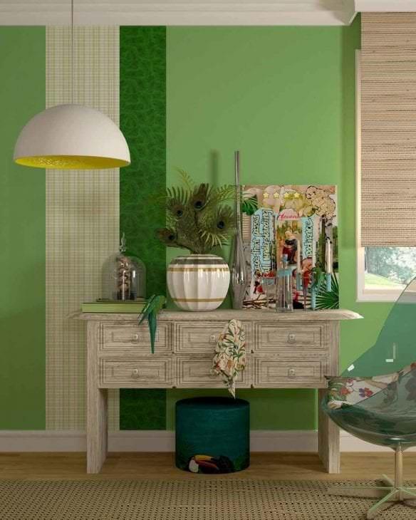 красивый фисташковый цвет в стиле спальни