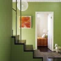 яркий фисташковый цвет в интерьере кухни картинка